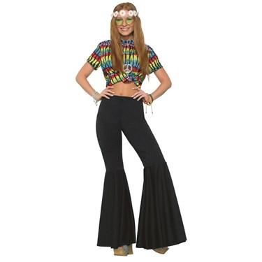 Womens Black Bell Bottom Pants