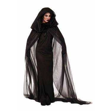Womens Black Haunted Dress Costume
