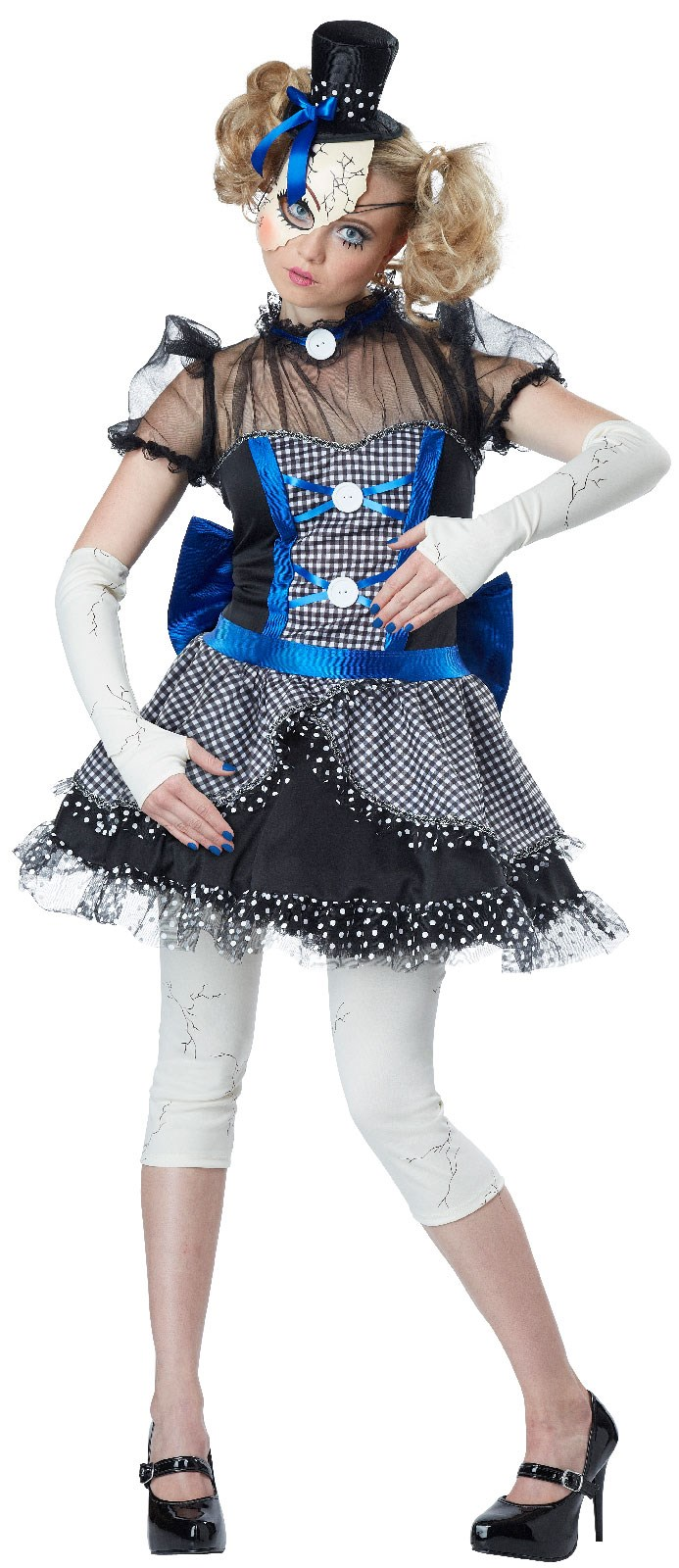 Womens blue broken doll costume for Mama s fish house dress code
