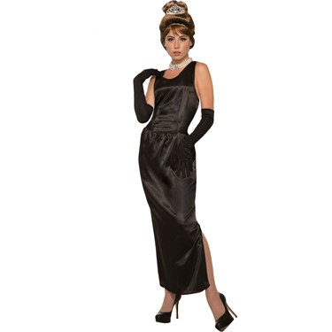 Womens Breakfast At Tiffany'S Gown W/Gloves Costume
