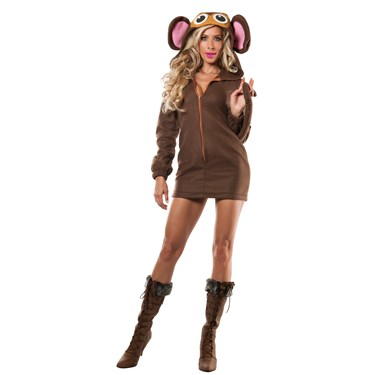 Womens Soft Monkey Costume