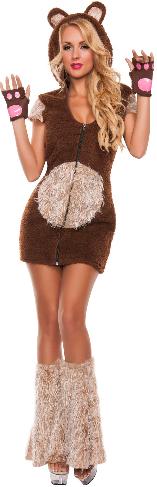 Womens Cuddle Me Bear Costume