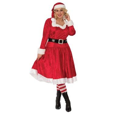 Womens Curvy Miss Santa Costume