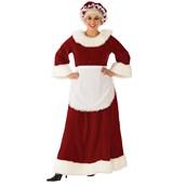 Womens Curvy Premium Traditional Mrs. Claus Costume