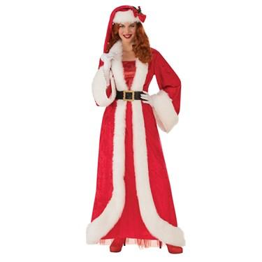 Womens Elegant Mrs. Claus Costume