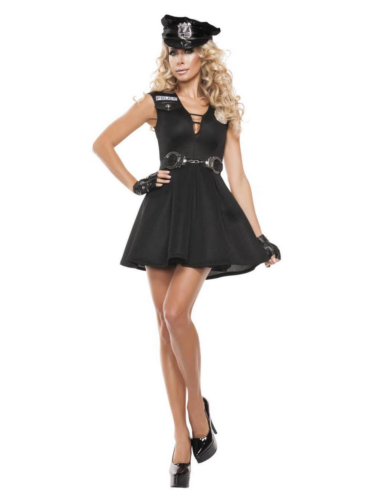 Womens Fashion Police Costume