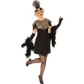 Womens Gold Flapper Costume