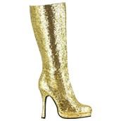 Women's Gold Glitter Boots