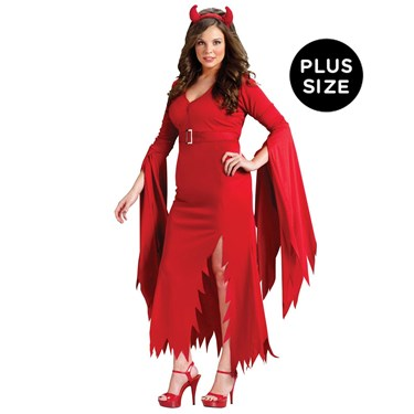 Womens Gothic Devil Plus Size Costume
