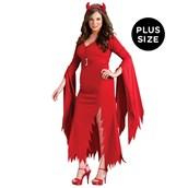 Womens Gothic Devil Plus Size Costume