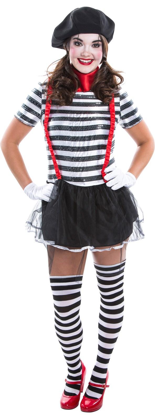 Womens Mime Costume | BuyCostumes.com