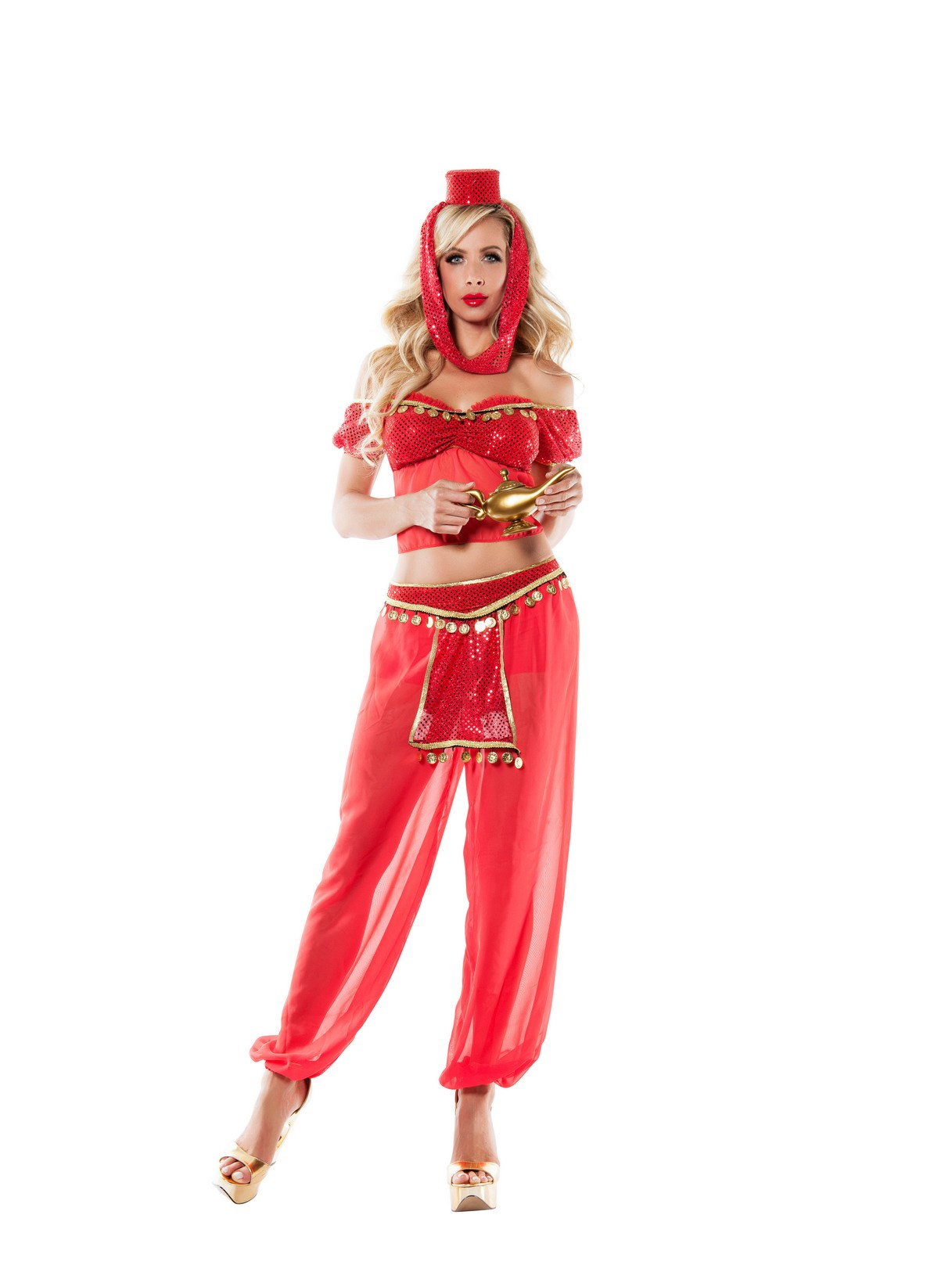 Womens Pink Genie Costume