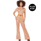 Womens Plus Size Authentic 70's Chic Costume