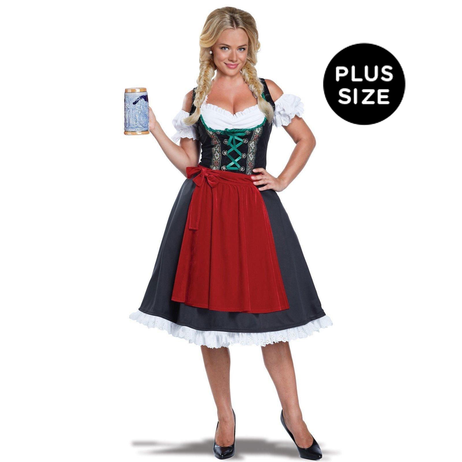 Womens Plus Size Oktoberfest Fraulein Costume