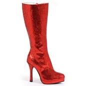 Women's Red Glitter Boots