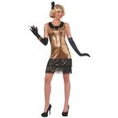 Womens Sequin Ritzy Glitzy Flapper Costume