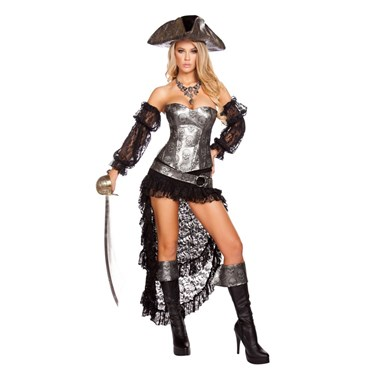 Women's Sexy Deadly Pirate Captain Costume