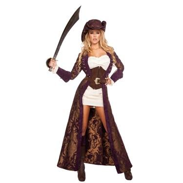 Women's Sexy Decadent Pirate Diva Costume