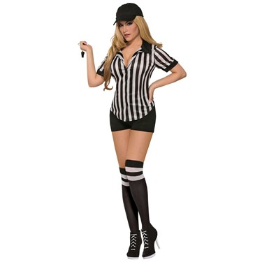 Womens Sexy Referee Shirt-Female Costume
