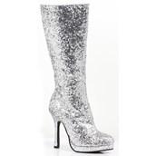 Women's Silver Glitter Boots