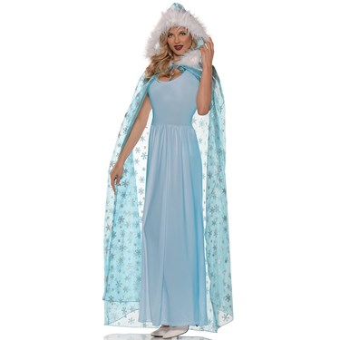 Womens Snow Queen Cape