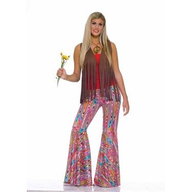 Womens Wild Swirl Bell Bottom Pants
