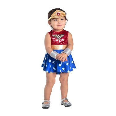 Wonder Woman Dress and Diaper Cover Set