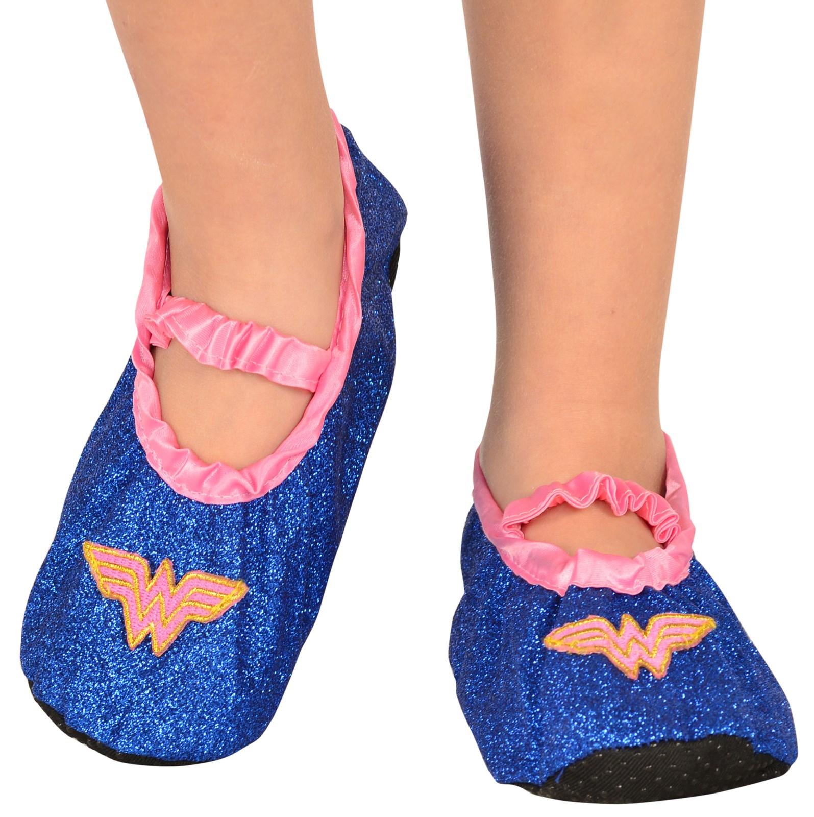 Wonder Woman - Glitter Slipper Shoes For Girls