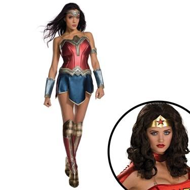 Wonder Woman Movie Adult Costume and Wig Kit
