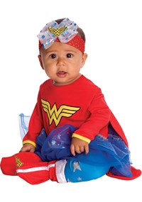 Click Here to buy Wonder Woman Onesie Baby Costume from BuyCostumes