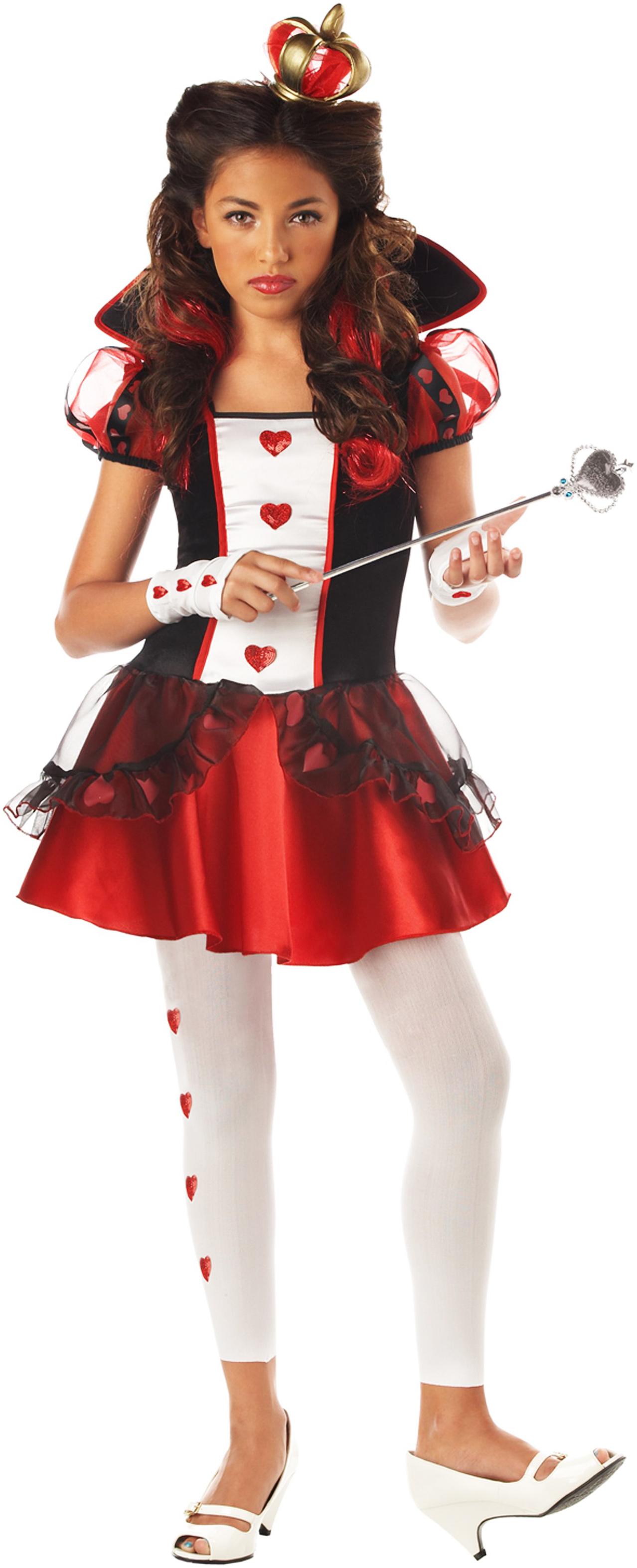 Wonderlands Queen of Hearts Tween Costume | BuyCostumes.com