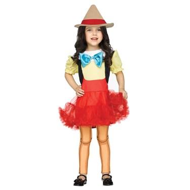 Wooden Girl Doll Toddler Costume