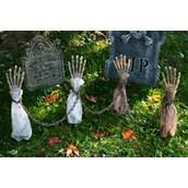 Yard Decoration Shackled Skeleton Arm Stakes