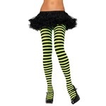 Yellow Black Striped Adult Tights
