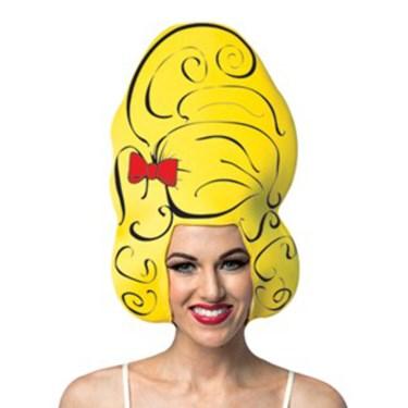 Yellow Beehive Comic Foam Adult Wig
