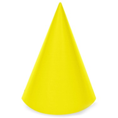 Yellow Cone Party Hats