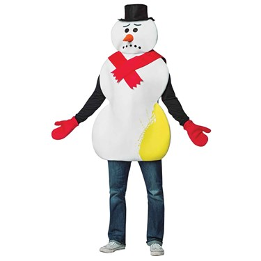 Yellow Snowman Adult Tunic Costume