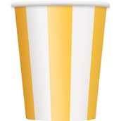 Yellow Stripe 12 oz. Paper Cups