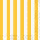 Yellow Stripe Beverage Napkins