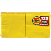 Yellow Sunshine Big Party Pack - Beverage Napkins (125) count)