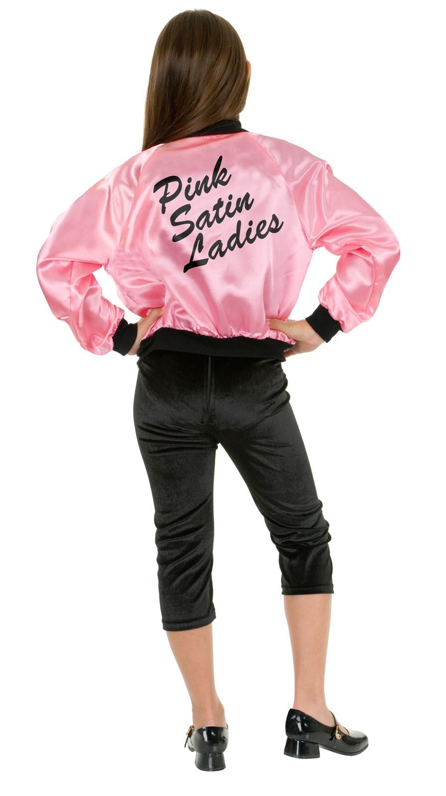 Pink Satin Ladies Kids Jacket | BuyCostumes.com