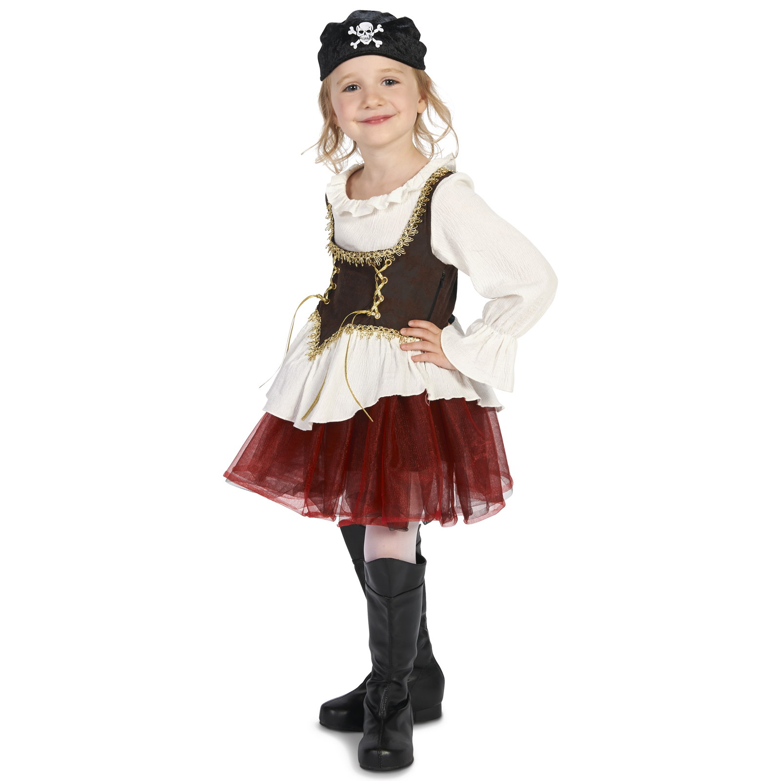 Pirate Tutu Girl Child Costume M (8-10) with Matching 18
