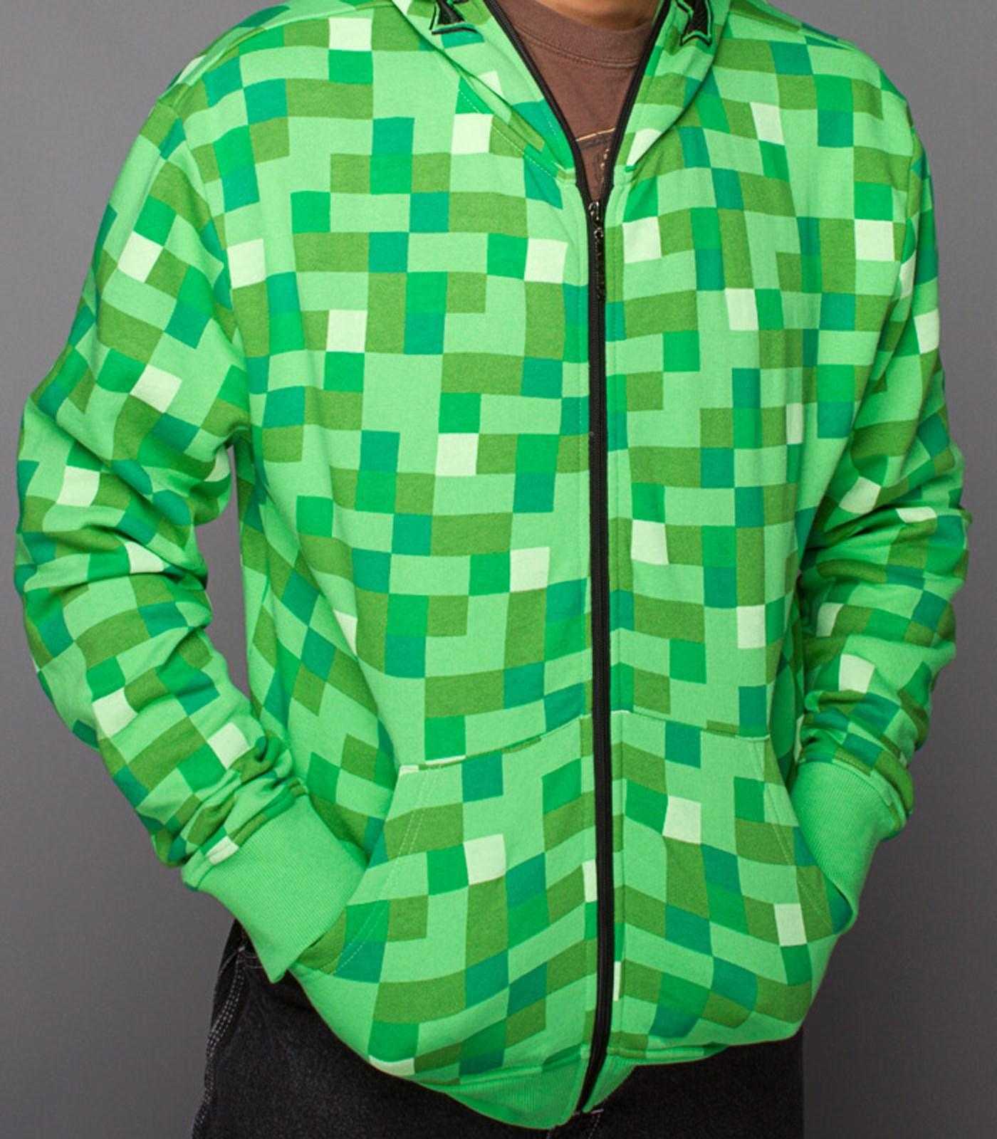 Minecraft creeper zip up hoodie