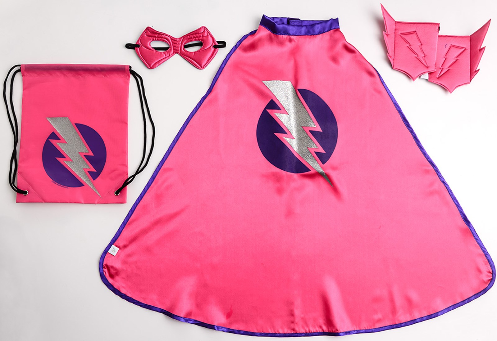 Superhero Drawstring Backpack Dress Up Set For Girls | BuyCostumes.com